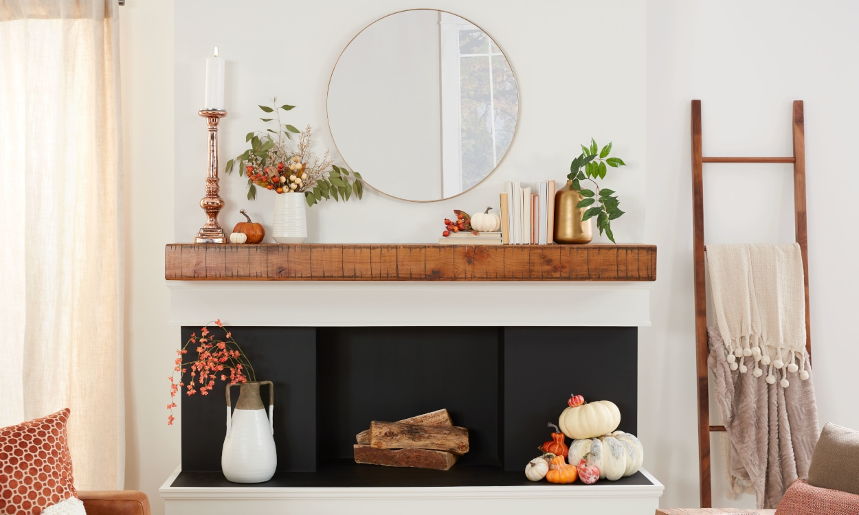 Rustic Orchard Mantel