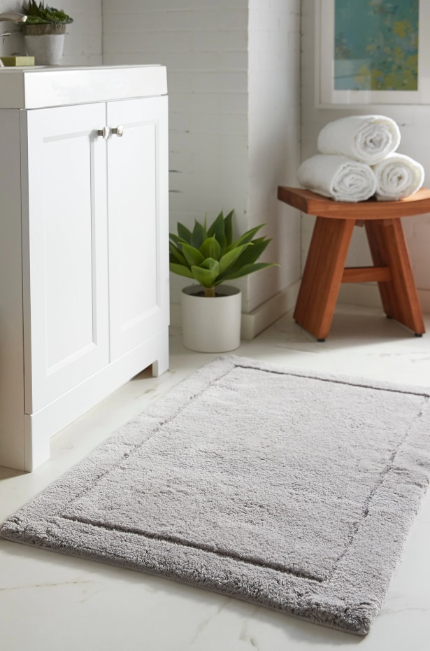 What are bath mats and bath rugs made of?