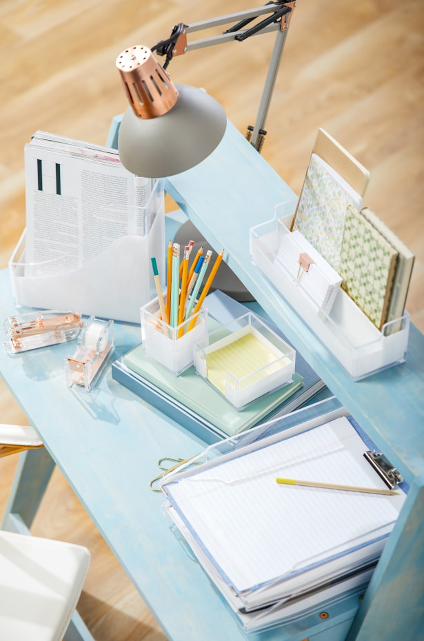 Clear a Place to Study With a Desk Organizer