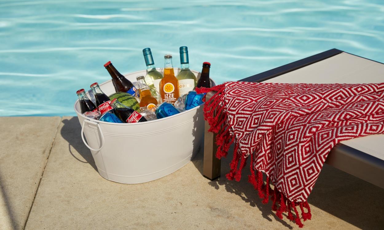 Outdoor cooking essentials beverage tub