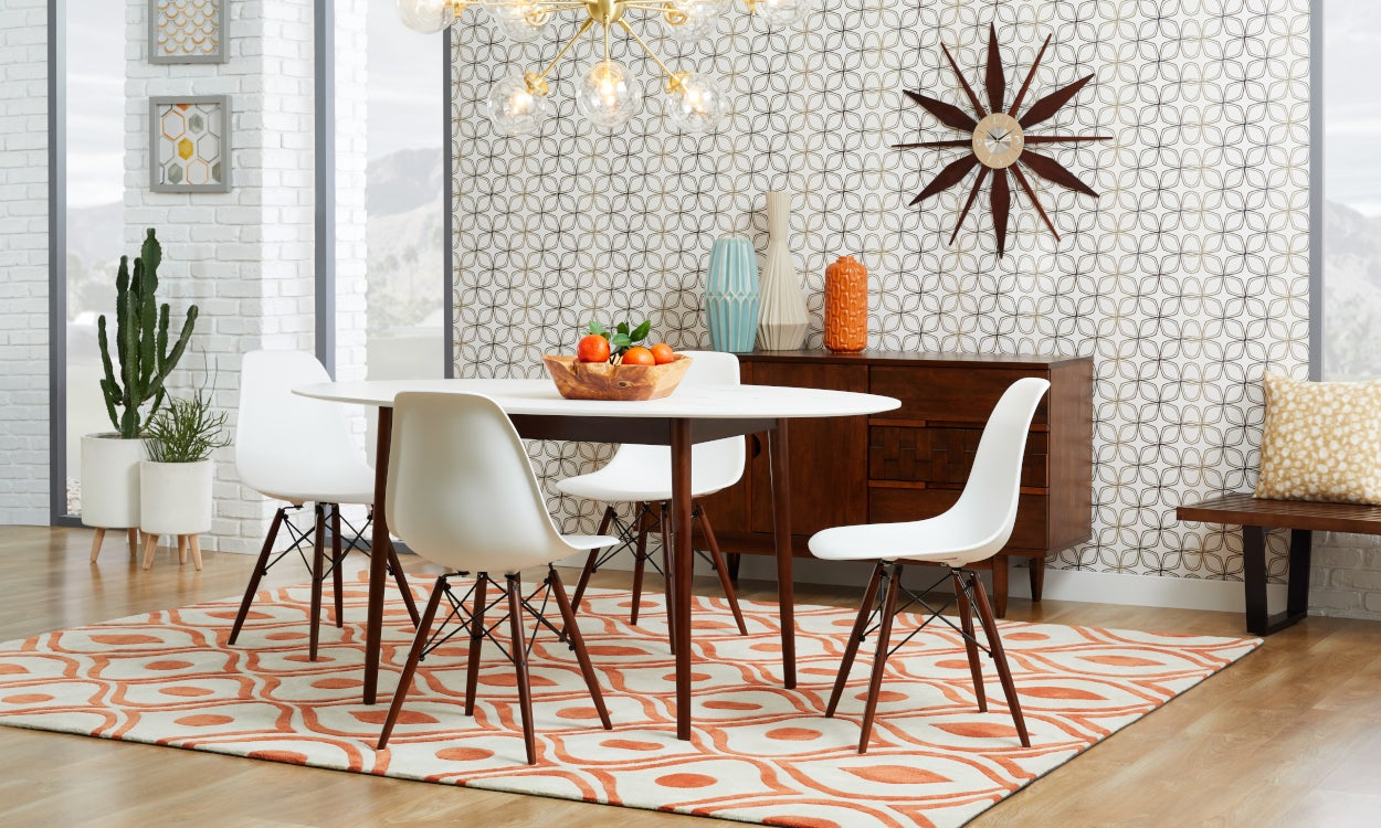 Mid-Century Rugs for Lively Dinner Parties