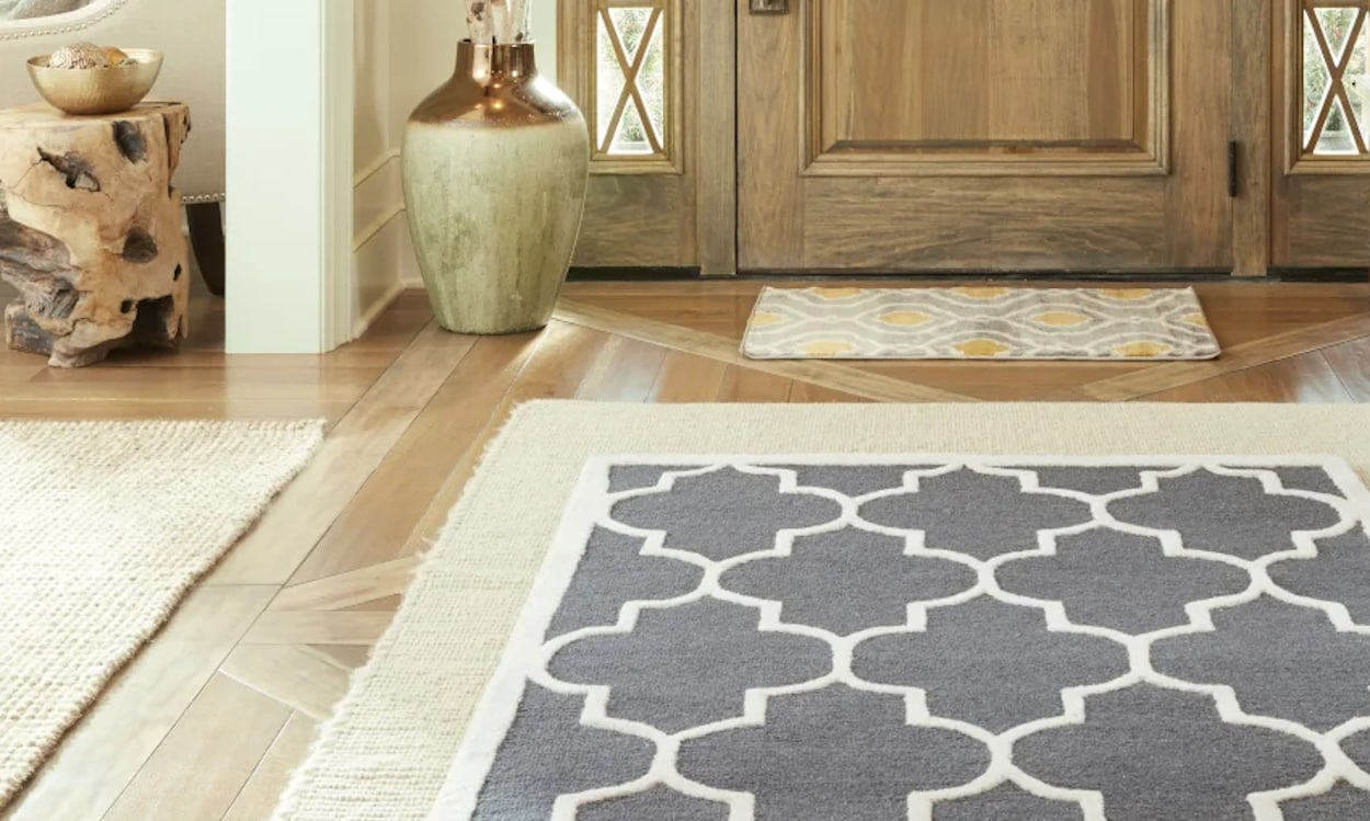 using the same rug in different spaces