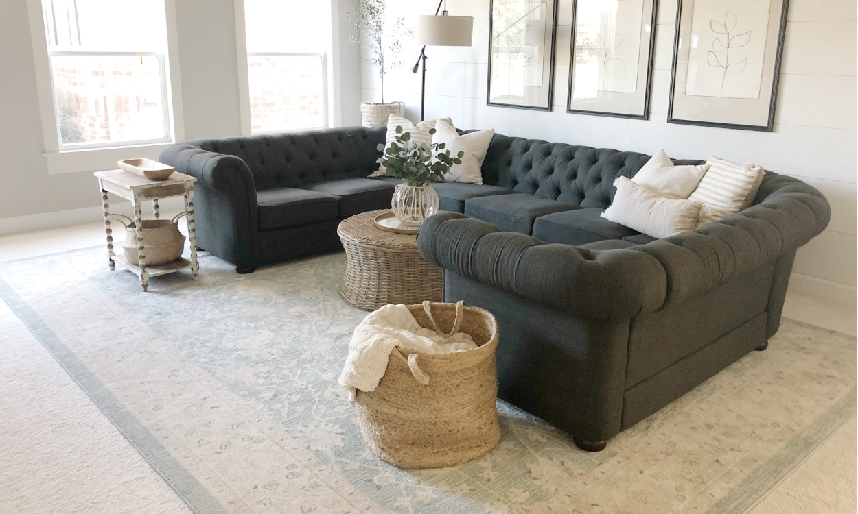 4 Tips For Decorating With Area Rugs Over Carpet Overstock Com