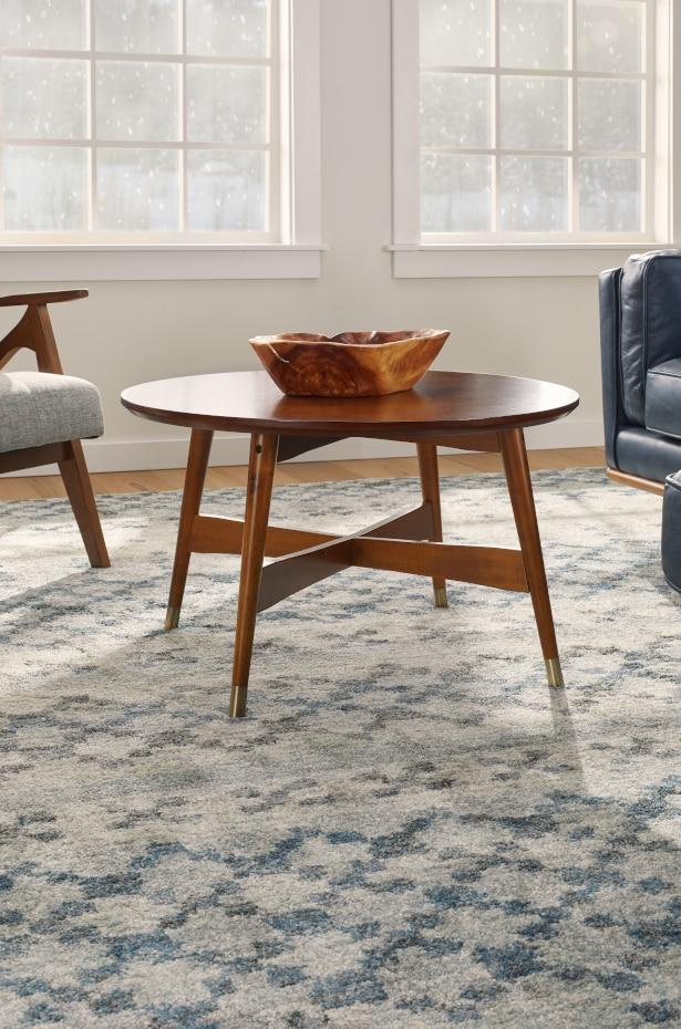 Polypropylene rug in living room